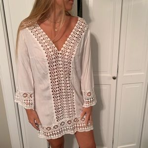 Dresses & Skirts - White Beach Cover Up